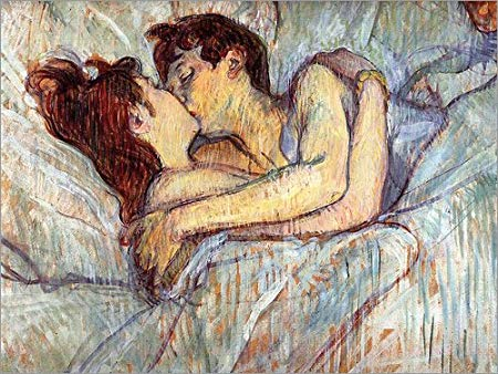 tolouse kiss in bed