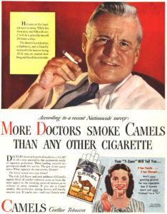 vecchia pubblicità Camel sigarette